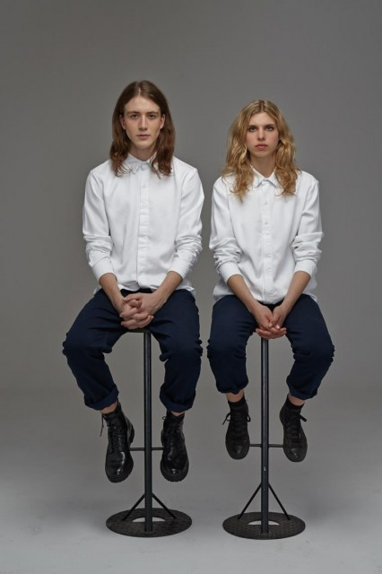 Bethnals AW14 Featuring Indigo Winnie Relaxed + White Roger Shirt